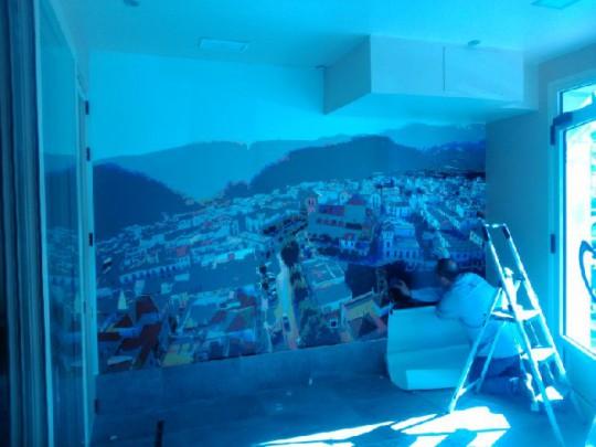 Impresión sobre vinilo para pared
